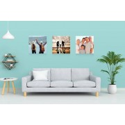 Set of 3 Personalised Photo Canvases
