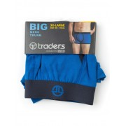 Traders Plain Cobalt Trunks - Cobalt 3XL