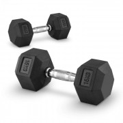 Capital Sports Hexbell 15 Dumbbell, чифт гири за една ръка, 15 кг (PL-8380-8380)