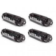 Pack de 4 Tóners compatible para HP Q2612A