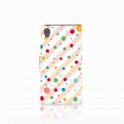 B2Ctelecom Sony Xperia X Telefoon Hoesje Dots