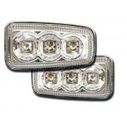 Semnalizator Lateral LED cristal /crom Peugeot 106 / 306 / 406 / 806