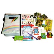"BUSY BAG ""Color Me"" Tote Travel and On-the-Go Entertainment and Activities Lunch Sack with games"