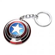 FARRAIGE Anime Avengers Model, Captain America Keychains, Pendants , Marvel Superhero Thor Hammer Keychain Toy Ring Keychains Pendant (Captain America-s)