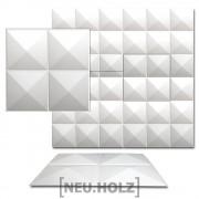 3D Панел за стенна декорация [neu.haus]® ,мотиви диаманти, 50 x 50 cm, 6m²