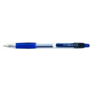 Pix cu gel PENAC CCH-3, rubber grip, 0.7mm, corp transparent - scriere albastra