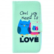 Huawei Ascend Y330 Wallet Case - Owl You Need Is Love