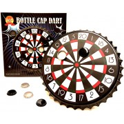 Barwench Games' Bottle Cap Darts Party Game, Bottle Cap Magnetic Dart Board (Traditional)