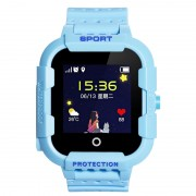 Ceas Inteligent pentru copii WONLEX KT03 Albastru, cu GPS, rezistent la apa, localizare WiFI si monitorizare spion