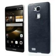 Кожен твърд гръб за Huawei Ascend Mate7 - тъмно син