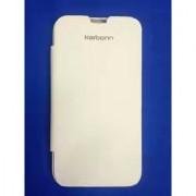Flip Cover for KARBONN A9+ A9 Plus FLIP COVER CASE DIARY CASE BATTERY DETACHABLE WHITE