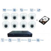 Kamerový set 8x kamera 720P s 30m IR a hybridní DVR + 1TB HDD
