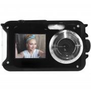 Camara Digital 20 Mp Contra Agua Doble Pantalla Selfie Flash