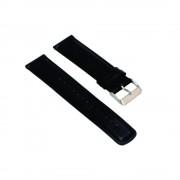 Curea neagra din piele pentru Huawei Watch W2 Sport / Samsung Gear S2 / Galaxy Watch 42mm / Moto 2nd gen 42mm