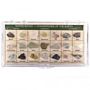Fantasia Boxed Collection: Native Rocks Collection In Presentation Case Set #7 Foundations Of The Earth Educational Natural Rock, Fossil, Gemstone & Mineral Specimens For The Classroom