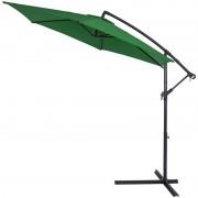 Duży Parasol Ogrodowy 350 Wysięgnik Boczny Zielony