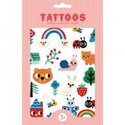 Petit Monkey - Tatuaj Nature Friends Set tatuaje petrecere pentru copii