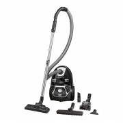 Aspirator cu sac Rowenta Compact Power Animal Care RO3985EA, 750W, Clasa A , Tub telescopic din metal, Sac Hygiene+, Negru