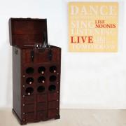 Set Weinregal+Wandschild, Flaschenregal für 9 Flaschen Kolonialstil, Dekoschild Shabby-Chick Retro ~ Variantenangebot