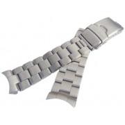 tools852 Robusto sólido extremo curvado piezas acero inoxidable ostra pulsera de repuesto para buceo skx007 009