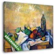 Paul Cézanne: Csendélet rumosüveggel (30x25 cm, Vászonkép )