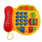 Phenovo Baby Toys Music Phone Educational Developmental Kids Pretend Play Toy Xmas Gift W/ Music Musical Instruments