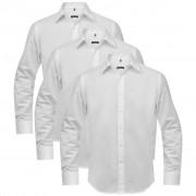 vidaXL 3 db férfi üzleti ing méret L fehér