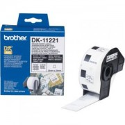 Етикети Brother DK-11221 Square Paper Labels, 23mmx23mm, 1000 labels per roll (Black on White) - DK11221