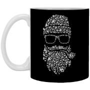 Birds Beard - Doodle Art - 11 oz. White Mug - 12