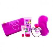 Pink Bouquet Coffret: Eau De Toilette Spray 100ml/3.4oz + Body Lotion 100ml/3.4oz + Lipgloss 10ml/0.3oz + Sleep Mask 4pcs Pink Bouquet Casetă: Apă De Toaletă Spray 100ml/3.4oz + Loțiune de Corp 100ml/3.4oz + Luciu de Buze 10ml/0.3oz + Mască pentru So