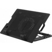 Stand Racire Laptop Sbox CP-12 17.3 inch 5 pozitii 2x USB Ventilator LED Albastru