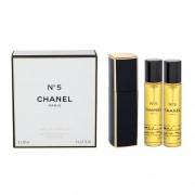 Chanel No.5 3x 20 ml eau de parfum Впръскване със завъртане 20 ml за жени