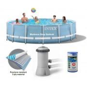 Intex 366x76cm fémvázas medence 2m3/h vízforgatóval Prism Frame 26712 NP