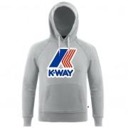 K-Way Pulls printemps/été unisexe Capuche Slimfit Capuche Sean French Terry Macro Logo Gris chiné - S