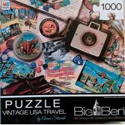 Big Ben Jigsaw Puzzle 1000 pc - Vintage USA Travel
