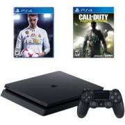 Конзола PlayStation 4 Slim 500GB Black, Sony PS4+Игра Call of Duty: Infinite Warfare за Playsation 4+Игра FIFA18 за PS4, Playstation 4