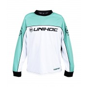 Unihoc Goalie sweater KEEPER JR Turquoise/White 160 cl