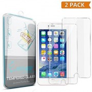 iPhone 6 Plus Screen Protector Enther 2 PACK [Retina Sense] Tempered Glass Premium High Definition Shockproof Clear Scr