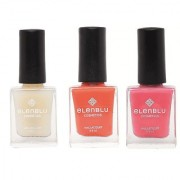 Elenblu White Water Top Top Coats Nail Polish Set of 2 Matte Nail Polish Roseate Blush Chestnut 9.9ml Each Bundle Offer