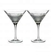 Waterford Diamond Line Martini Set Of 2