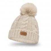 Zimowa czapka dziewczęca PaMaMi - Beżowy