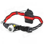 lente LED de lente convexa flood-a-throw w / cree Q3-WC / control de brillo (3 * AAA)