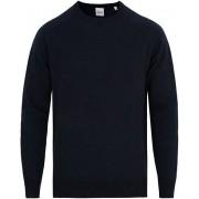 Aspesi Crew Neck Wool Sweatshirt Navy