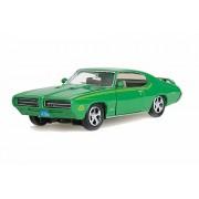 Motor Max 1969 Pontiac GTO Judge, Green - Showcasts 73242 1/24 Scale Diecast Model Toy Car