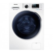 Masina de spalat rufe cu uscator Samsung Crystal Blue Eco Bubble WD80J6A10AW, 8kg/5kg, 1400 RPM, Clasa A, Display, Inverter, Alb