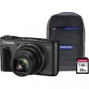 Canon Digital Camera PowerShot SX730 HS 20.3 Megapixel Black + 1 x 32GB SD Card, 1 x Case