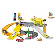 Toys Bhoomi Modern City Garage Parking Lot Vehciles Play Set (Multicolour)
