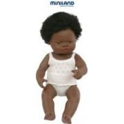 Papusa fetita africana Miniland 38 cm