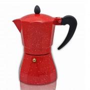Кубинска кафеварка ZEPHYR ZP 1173 N6, 6 чаши Red Passion, Червено/черно