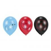 6 baloane latex Buburuza - Miraculous - 22.8 cm
